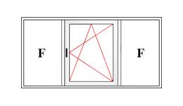 Прозорец с три крила, средното е отваряемо и 2 фикса