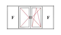 Прозорец с четири крила, двете средни са отваряеми